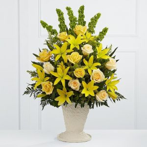 Yellow Funeral Urn